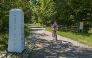 Mason-Dixon Line, cyclist