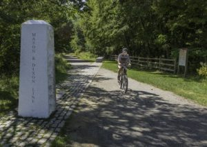 Great Allegheny Passage, Mason_Dixon_Line monument