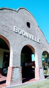 Boonvillle train station sign