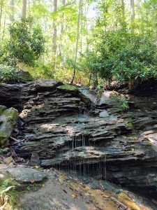 waterfall on great allegheny passage