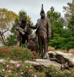 Lewis and Clark in Frontier Park, St Charles, Missouri