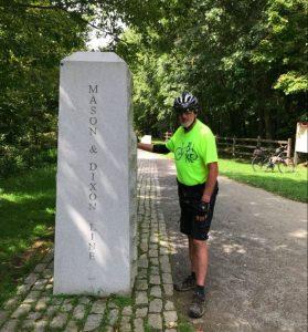 Great Allegheny Passage, mason dixon line marker