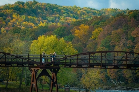 Ohiopyle in fall, great allegheny passage