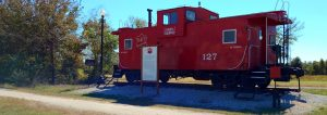Katy Trail, red caboose