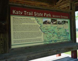 Katy Trail, Western Terminal sign