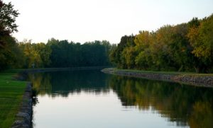 Erie Canalway, fall reflection