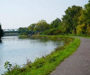 Erie Canalway, trail near Brockport