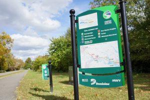 Virginia Capital Trail, map sign