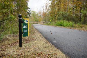 Virginia Capital Trail, Mile 40 sign
