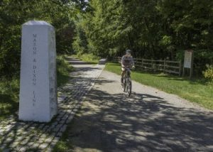 Great Allegheny Passage, Mason Dixon Line monument