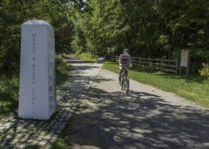 Great Allegheny Passage, Mason Dixon Line monument