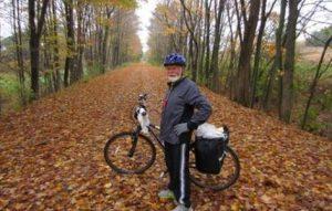 Rider on C&O in autumn