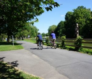 Erie Canal bike riders
