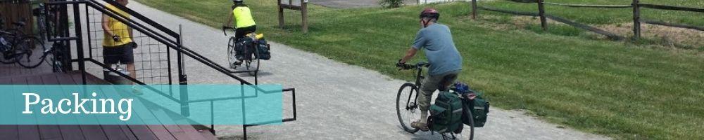 packing self guided bike tour