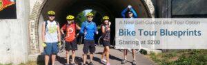 self guide bike tour blueprints